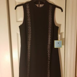 NWT black and pink sleeveless dress